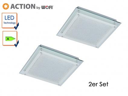 2er Set LED Deckenleuchte MORA, Chrom, LED Deckenlampen Deckenleuchte