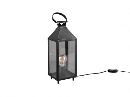 LED Tischleuchte Laterne schwarz Metall 13x13cm 46cm hoch für die Fensterbank - Vorschau 5