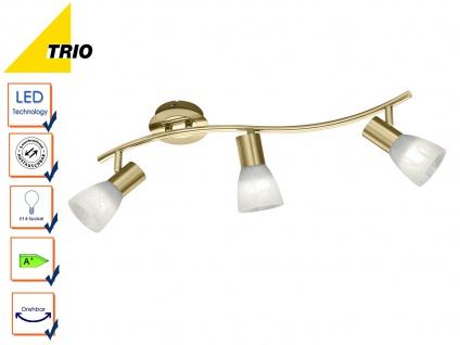 3 flammiger LED Deckenstrahler für Innen schwenkbar Messing matt Wohnzimmerlampe - Vorschau 4