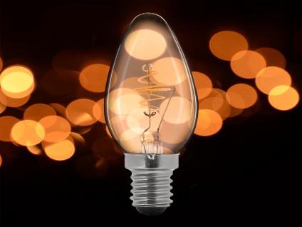 2x LED Leuchtmittel 3 Watt, 150 Lumen, 2000 Kelvin, E14-Sockel, Filament LED - Vorschau 5