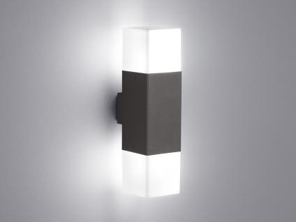 LED Außenwandlampen Anthrazit 2er SET Außenleuchte Terrassenbeleuchtung Hauswand - Vorschau 4