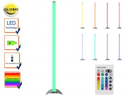 Globo LED Stehleuchte ROCKY mit Fernbedienung, Farbwechsel, Partylicht, dimmbar