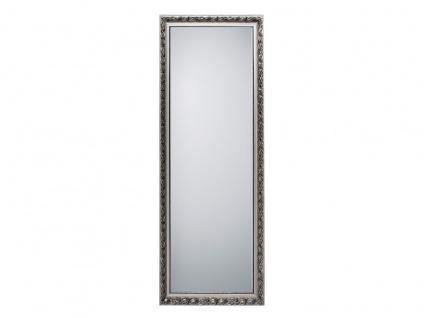 Barock Wandspiegel mit Holzrahmen Silber Ganzkörperspiegel für Flur & Garderobe
