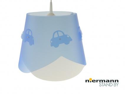 Kinderzimmer Deckenleuchte Lampenschirm mehrlagig mit Autos - tolle Lichteffekte