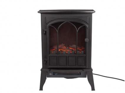 Elektrokamin elektrisches Kaminfeuer mit Flammeneffekt Heizfunktion & Thermostat