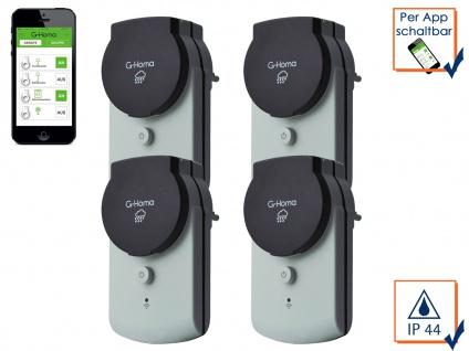 G-Homa 4er SET WiFi Outdoor Schaltsteckdose, schalten per APP Funksteckdose