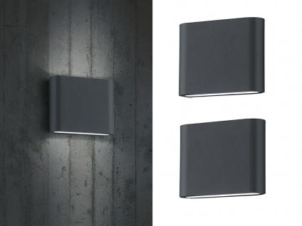 LED Außenwandlampen SET Anthrazit mit Up and Down - Wandleuchte für Außenbereich