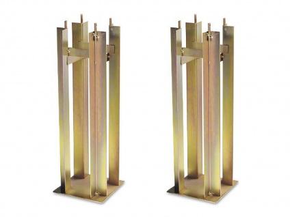 2 Stahl Universal Bodenanker für KONSTSMIDE Aussen Pfahlleuchten Pfostenschuh