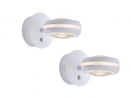 WIZ LED Wandleuchten Weiß matt mit Alexa oder App steuern 2 Stk fürs Wohnzimmer - Vorschau 2