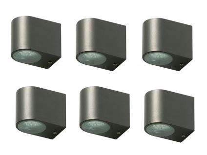 6x LED Außenwandleuchte Bastia Aluminium Anthrazit Down Light Wandleuchte Außen