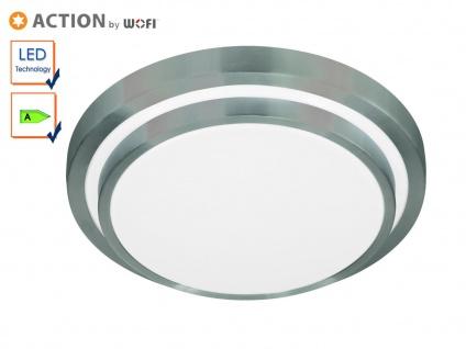 LED Deckenleuchte 35 cm, Aluminium gebürstet, Action by Wofi
