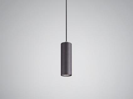 LED Pendelleuchte für Wohnzimmer, Schlafzimmer, Küche & Flur Metall schwarz matt