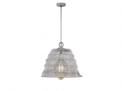 Design Pendelleuchte mit Lampenschirm betonfarbig 47cm, moderne Esstischlampe