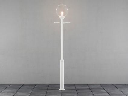 2er-Set weiße Straßenlaternen Kandelaber klares Acrylglas 240cm - Vorschau 4