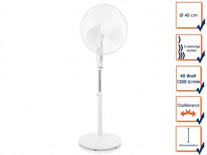 Oszillierender Standventilator Ø40cm Zimmerventilator Winderzeuger Windmaschine