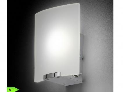 LED-Wandleuchte, Chrom mit Glas in weiß matt, Honsel-Leuchten, LUIS