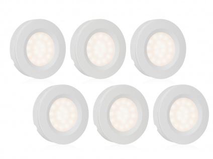 Runde LED Spots / Unterbauleuchte im 6er Set mit Bewegungssensor & Dimmer -Küche
