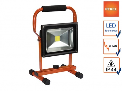 LED Baustrahler 20W neutralweiß mit Akku, Fluter Arbeitsleuchte Akkustrahler
