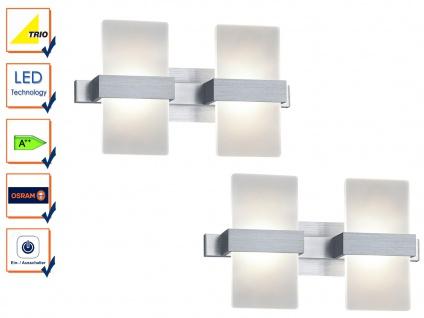 LED Wandleuchte Wandlampe Wandbeleuchtung PLATON Aluminium 2er Set 30x18cm