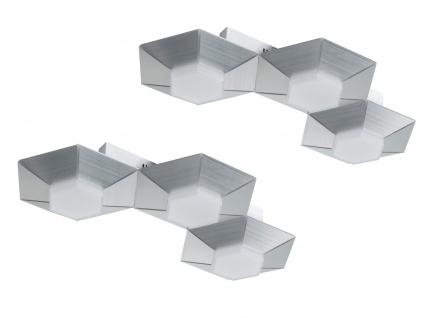 Dimmbare 3 flammige LED Wandlampe Aluminium gebürstet - 2er Set fürs Wohnzimmer