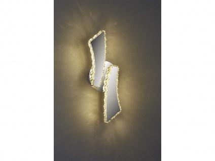 Moderne LED Wandleuchte in Chrom für innen mit 3 fach Color Switch Farbwechsel - Vorschau 5