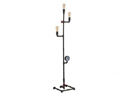 Außergewöhnliche LED Stehlampe Industrial Design mit Wasserrohr Rostoptik antik - Vorschau 1