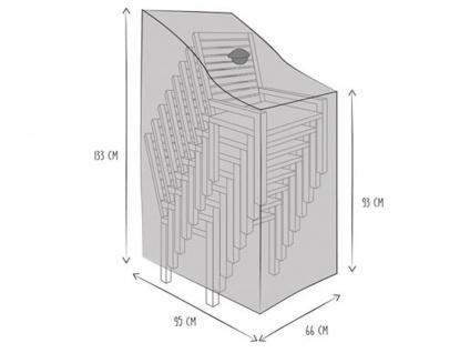 Gartenmöbel Schutzhülle für 6-8 Stapelsessel Tiefe 95cm, Abdeckhaube Gartenstuhl