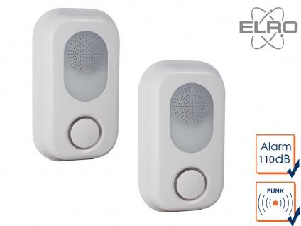 2x SMART HOME Innensirene für Elro Alarmanlage AS8000 mit Handy App Alarmgeber