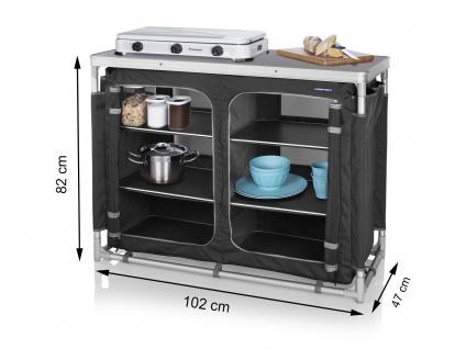 Campingschrank klappbar für Campingküche & Zeltschrank - stabiler Faltschrank