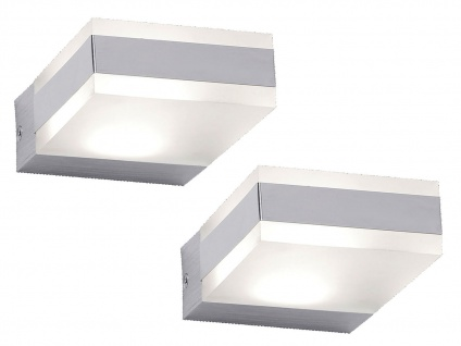 2er Set eckige Design LED Wandleuchten, Wohnzimmerlampen Flurlampen Wandlampen - Vorschau 2