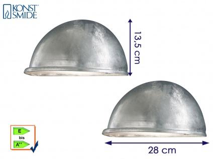 2 Stk Konstsmide Downlight Wandleuchte TORINO galvanisiert, Beleuchtung außen