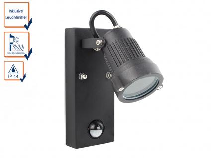 Außenwandleuchte mit Bewegungssensor, inkl. 3 Watt LED, 230 Lumen, 3000K