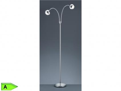 LED-Stehleuchte, 2x4, 2W LED, Höhe 125cm, Flexarm Kunststoff chrom