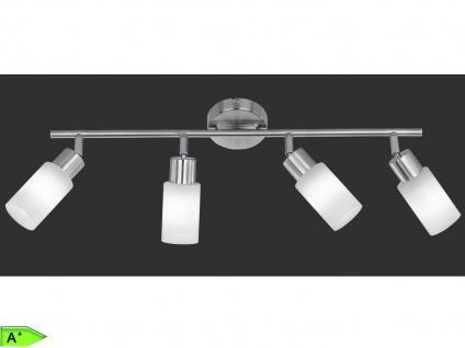 4-fl Deckenstrahler inkl. LED, Nickel matt / Glas weiß, Trio-Leuchten