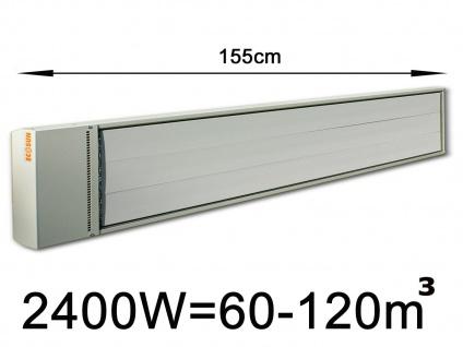 2400W Industrie-Strahlungsheizung f. Räume 60-120m³, pulverbeschichtet