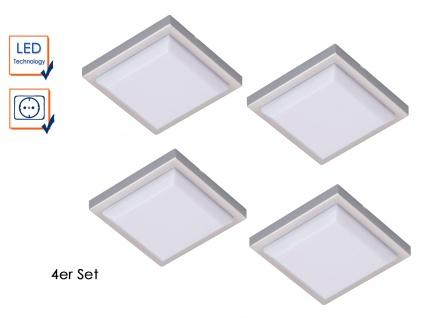 SET: 4 LED-Leuchten quadratisch mit je 1, W extra flach ideal für Vitrinen u.a.