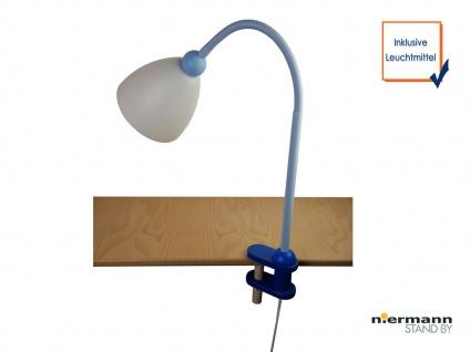 LED Schreibtischklemmleuchte LED Tischlampe *SVEN* Regal Leuchte sehr biegsam