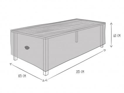 Gartenmöbel Schutzhülle Abdeckung für Gartentisch 280 x 105cm, wetterfeste Plane