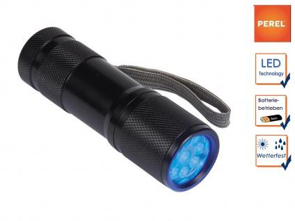 LED Ultraviolett Taschenlampe wasserfest, UV-Licht für Banknoten Glas Schimmel