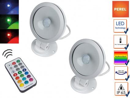2er Set 10W RGB LED Flutlichtstrahler mit Fernbedienung, Scheinwerfer Partylight