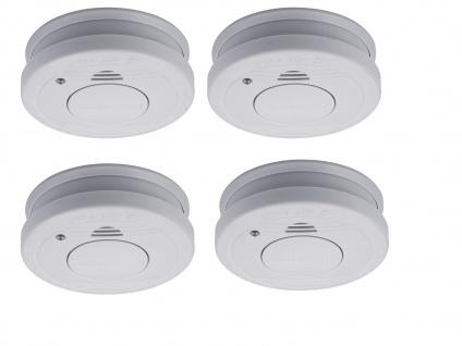 4er-SET Rauchmelder mit Batteriewarnung & Testtaste - Zulassung nach EN14604 - Vorschau 2