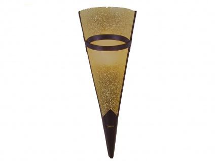 Globo Wandleuchte antik, Wandfackel RUSTICA, Metall rost, E14, Wandlampe Flur