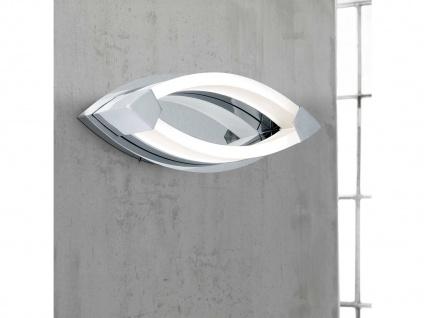 LED Wandleuchte mit Schalter, Chrom / Acrylglas, Wofi-Leuchten