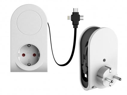 Ausziehbares Micro USB Ladekabel 3in1 & Steckdose Datenkabel alle Marken Iphone