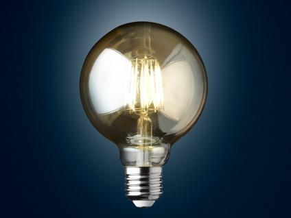Filament LED dimmbar E27 Leuchtmittel Glühlampe Goldfarbig tranpsarent 6W 680lm - Vorschau 2
