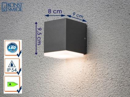 LED Außenwandleuchte Alu in Anthrazit, 1x 6W IP54 Fassadenbeleuchtung Wegelampe