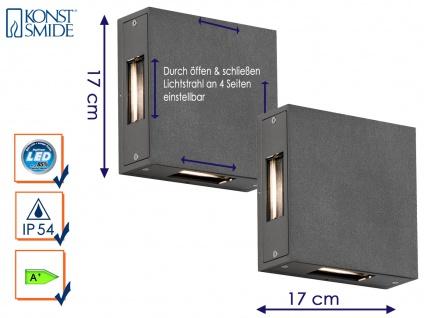 2er-Set Außenwandleuchte CREMONA anthrazit Lichtstrahl individuell einstellbar