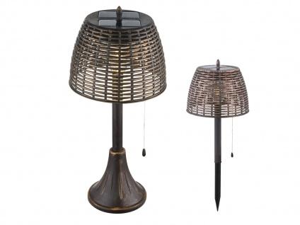 2er Set Vintage LED Solar Tischleuchten für Garten - Erdspieß Wegeleuchten Außen - Vorschau 2