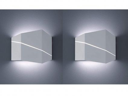 2er SET Wohnzimmer Wandbeleuchtung in weiß matt Up & Down Lichteffekt 18x14, 5cm