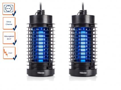 2er Set Fluginsektenvernichter 2er Set 20m² 4 Watt UV Auffangschale Tristar